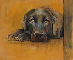 Hond - 50 x 60 cm - acryl op doek