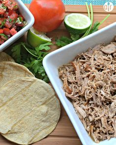 "Slow Cooker Puerto Rican Shredded Pork | ""Very tasty and your slow cooker does most of the work. Serve shredded pork in lettuce wraps or in corn tortillas. Top with pico de gallo, chopped cilantro, and avocado."""