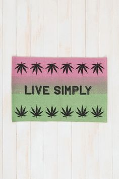 Live Simply Mat/,, perfect for my brother