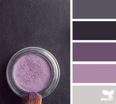 Great color palette for little ones loving purple. Cosmetic color from design seeds / Purple color scheme / Plum color palette idea