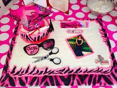 Pink And Black Graduation Cake. https://www.facebook.com/CakeDivaDenise