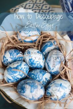 How to Decoupage Easter Eggs - Spring DIY Decor from Southern Hospitality Easter Egg Crafts, Easter Eggs, Easter Decor, Easter Ideas, Spring Home Decor, Spring Crafts, Chinoiserie, Easter Season, Diy Ostern