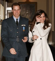Future King of England, Prince William and Dutchess Kate...i remember this was in the first week or so after they announced their engagement :)