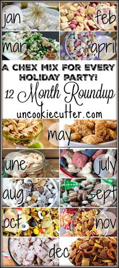A Chex Mix for every holiday party - a 12 Month Roundup - UncookieCutter.com