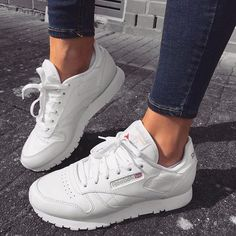 The classic Reebok trainers in white white | shoes | sneakers | fashion | camden | white | classic | lifestyle | instagram | trainers | shop | bestseller | womens shoes | mens shoes www.scorpionshoes.co.uk #sneakersfashion