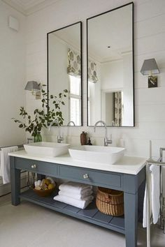 light blue sink with ship lap walls