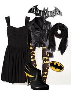 The Batman Look - Geek Girl Fashion. Thanks @Kristen - Storefront Life - Storefront Life Vermillion for pinning this at me!