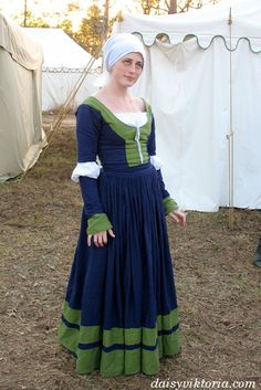 This is a style from 16th cen­tury Ger­many, worn by the kampfrau.