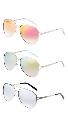 Classic summer aviator sunglasses >> Love these colors!