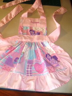 little girl apron,,, my little pony/princess