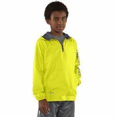Under Armour Tideburst Jacket KIDS High-Vis Yellow.  Under Armour's lightweight, high-neck, water- & wind-defying Kids Tideburst Jacket. Who's afraid of a little rain?  http://www.performancesportsstuff.com/pr/692/tideburst-jacket-kids-high-vis-yellow