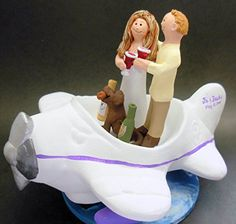 Airplane Pilot's Wedding Cake Topper- Custom Made Magic Mud https://smile.amazon.com/dp/B00SW6RELM/ref=cm_sw_r_pi_dp_x_LhivybRBSGQ33