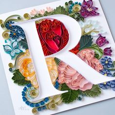 The trilogy is complete! 🎉 VMR letters are ready to be framed and shipped. Paper Quilling Tutorial, Paper Quilling Patterns, Quilled Paper Art, Quilling Paper Craft, Paper Crafts, Arte Quilling, Quilling Letters, Diy Arts And Crafts, Creative Crafts