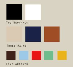 My color palette + grey: Black, Grey, White, Cream, Mustard, Camel Brown, Mint/Aqua, Baby Blue, Navy, Red