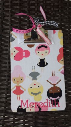 Personalized Ballet mini clipboard by rockinghorsedesigns on Etsy, $10.00