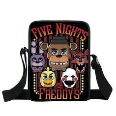 Young Men Five Nights At Freddys Bag Fnaf Mini Messenger Bag Boys Girls Schoolbags Foxy Freddy Bags Chica Bonnie Fazbear Bags