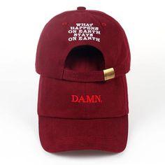 win 2017 ne w wine red kendrick lamar damn cap embroidery DAMN. unstructured  dad hat bone women men the rapper baseball cap … 0d1c23f0ccb0