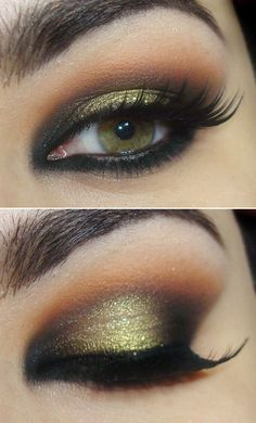 Smokey eye for green eyes...I need to do this :)