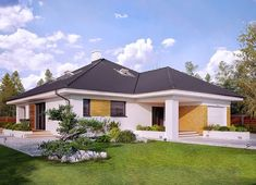 Projekt domu Decyma 7 148,53 m² - koszt budowy - EXTRADOM Home Fashion, House Plans, New Homes, House Design, Outdoor Structures, Mansions, Architecture, House Styles, Iranian