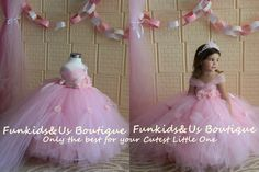 Beautiful Pink Princess Tutu gown with Rhinestone and