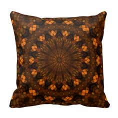 Colorful kaleidoscope mosaic pillow