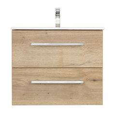 Arredo Spirit Tvättställspaket 60 cm bredd Wood   Tvättställspaket Arredo Spirit innehåller kommod och porslinstvättställ. Kommoden har mjukstängande lådor och den övre luckan är av U-konstruktion och med lådavdelare. Kom ihåg att köpa till handtag, låddelare, blandare och bottenventil vid behov. Arredo Spririt finns i bredderna 60cm och 90cm och i färgerna svart högblank, svart matt, vit högblank, vit matt och wood.