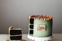 mint coconut chocolate cake