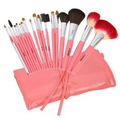 Professional 18 Pcs Makeup Make up Cosmetic Brushes Set Kit Eyeshadow Eyelash Eyeliner Eyebrow Lip Powder Blush Face Brush with Pink Bag Case Pouch by Crazy Cart. $15.45. Features: 1. The makeup brush set is easy to carry and use 2. With superior-quality, the makeup brushes in the set will not irritate your skin 3. Durable unique packaging can well protect your makeup brushes 4. It is an important beauty essential for you 5. Handle made of plastic and aluminum 6. It is suitab...