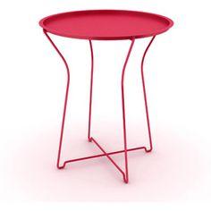 Atlantic Furniture Metal Portable Side Table