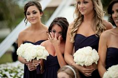 I've always wanted a picture like this, of my bridesmaids reactions of the bride walking down the aisle