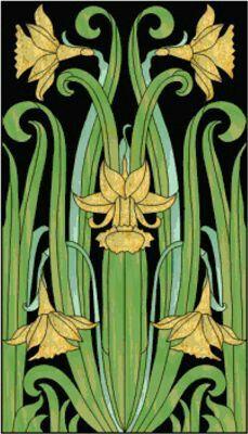 Art nouveau daffodils