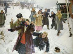 """Михаил Иванович Лихачев (4.10.1919 - 13.2.1997г.). """"Выходной день"""" (1957)"""