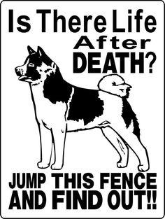 AKITA Dog Sign 9x12 ALUMINUM 2699A by animalzrule on Etsy, $12.00
