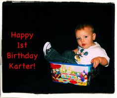 Karters 1 year pictures for his birthday.