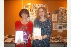 With my dear friend Kerry Drewery at our Writing Friends event at Cleethorpes Library.