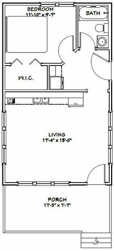 Tiny House Layout, House Layouts, Small House Plans, House Floor Plans, Tiny Cabin Plans, 1 Bedroom House Plans, 20x30 House Plans, Shed House Plans, The Plan