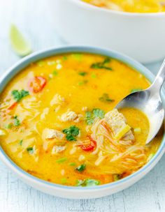 Soup Recipes, Healthy Recipes, Healthy Food, Thai Red Curry, Menu, Dinner, Ethnic Recipes, Kitchen, Sunday