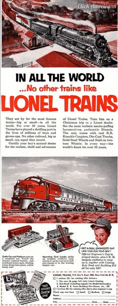 No other trains like Lionel Trains: Worth being good for (1952)