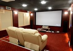 Top 70 Best Home Theater Seating Ideas - Movie Room Designs Home Theater Room Design, Home Cinema Room, Best Home Theater, Home Theater Rooms, Home Theater Seating, Home Theater Wiring, Theater Seats, Media Room Seating, Small Media Rooms