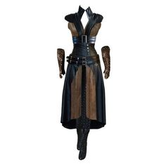 Elves, Druids And Humans via Polyvore featuring dresses, fantasy and steampunk