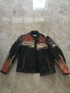 Harley Davidson Leather Jacket for Sale in Miami, FL - OfferUp Motorcycle Jacket, Motorcycle Garage, Biker, Harley Davidson Leather Jackets, Harley Davidson Merchandise, Leather Jackets For Sale, Mandarin Collar, Hand Warmers, Tank Top Shirt