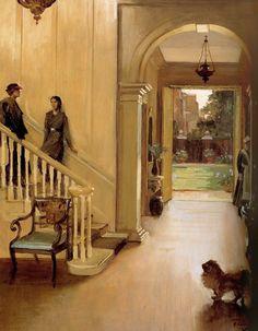 "radstudies: "" John Lavery (Irish, 1856-1941) The Hall, Argyll House: A Summer Day """