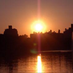 Central Park Reservoir at Sunset