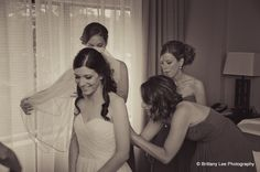 The bride gets ready with her bridesmaids before she meets her groom in the Sterling Ballroom. www.SterlingBallroomEvents.com. Photo courtesy of Brittany Lee Photography. #wedding #bride #groom #marriage #wife #husband #SterlingBallroom #tintonfalls #nj #njweddingvenue #njweddings #njbanquethall #reception #weddingreception
