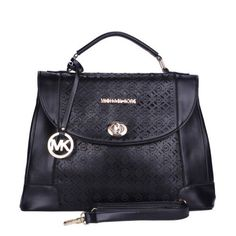 MICHAEL Michael Kors Grayson Medium Paint Leather Satchels Black Model: MK Satchels - 045 £38.20#http://www.bagsloves.com/