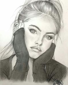 [New] The Best Drawings Today (with Pictures) - These are the 10 best drawings today. According to drawing experts, the 10 all-time best drawings. Girl Drawing Sketches, Girly Drawings, Portrait Sketches, Pencil Art Drawings, Realistic Drawings, Pencil Portrait, Cool Drawings, Canvas Art Projects, Dibujos Cute