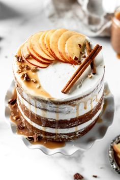 Maple Spice Cake with Maple Frosting – Baran Bakery – Blechkuchen rezepte Cupcakes, Cupcake Cakes, Bolos Naked Cake, Apple Cinnamon Cake, Bolo Minnie, Cake Recipes, Dessert Recipes, Maple Frosting, Lenotre