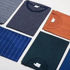 Made from Egyptian cotton and coming in a variety of colourways, the Short Sleeve Crew Tees from British label #Sunspel are one of our favourites here at the store. Take a look at the full range online now. #peggsandson