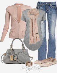 Casual Outfits | Grey Cardigan | Fashionista Trends