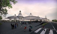 Render For Competition for the new Velodrome of Medellín Colombia, El Equipo Mazzanti